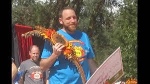 Giant Pumpkin Festival Elk Grove by Joey Chestnut Wins Elk Grove World Pumpkin Pie Eating Contest