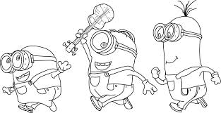 Minion Coloring Pages To Print Free