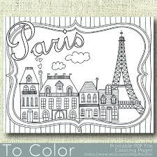 Printable Paris Coloring Page For Adults PDF JPG Instant Download Book Sheet Grown Ups Digital Stamp