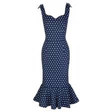 ariel u0027 navy polka wiggle dress wiggle dress vintage inspired