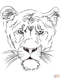 Lions Vintage Lion Head Coloring Pages
