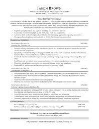 Sample Resume For Mechanical Technician Electrician Maintenance Building Worker Mlumahbu
