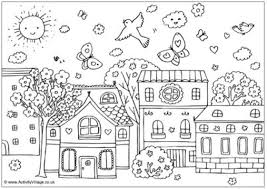 Kids Will Love These Free Springtime Coloring Pages Activity Villages Spring