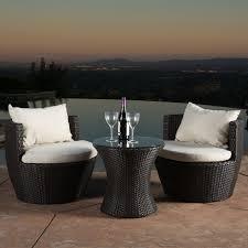 Kirkland Wicker Patio Furniture by Coral Coast Balta All Weather Wicker 3 Piece Swivel Patio Bistro