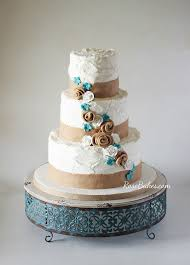 It Was Loosely Based On This Burlap Lace Wedding Cake I Did Quite Awhile Back One Big Difference All The Edible Homemade