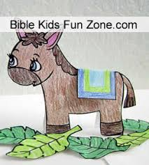 Standup Donkey Craft For Preschoolers To Make With Palm Branches And Coat Fold Over Its