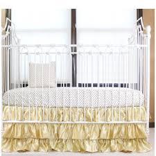 Bratt Decor Crib Skirt by Gold And White Ruffle Gold Dot Crib Baby Bedding Set U2013 Jack And