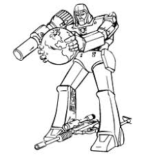 Transformer Lone Fighter Megatron From Transformers Coloring Page Free Printable