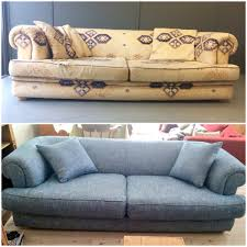 Crate And Barrel Axis Sofa Cushion Replacement by New Fabric And New Scatter Cushions Was All This Sofa Needed To