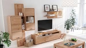interliving wohnzimmer serie 2006 wohnwand v13103 eiche bianco weiß fünfteilig breite ca 342 cm