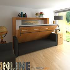 Bedroom Horizontal InLine Murphy Bed And InLine Sofa