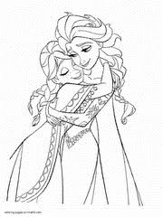 Frozen Elsa And Anna Coloring Pages Printable That You Can Print