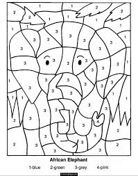 Coloring Pages Printable Number Color By