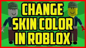 HOW TO CHANGE YOUR SKIN COLOR IN ROBLOX 2017