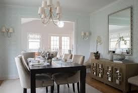 espresso dining table with beige nailhead dining chairs and reed 8