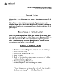How To Write A Formal Letter In English Format