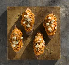 Toasting Pumpkin Seeds In Microwave by Twice Baked Maple Chipotle Sweet Potatoes With Goat Cheese