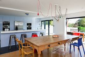 Rustic Kitchen Table Contemporary With Blue Cabinets Ceiling