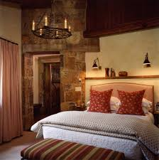 Above Bed Decor With Rubbed Bronze Swing Arm Wall Lamps3 Bedroom Rustic And