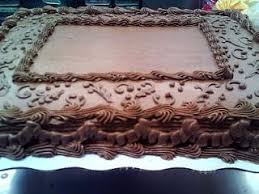 chocolate sheet cake decor Erika Carrell Cakes