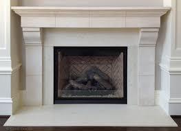 French Limestone Fireplace Mantel Traditional Philadelphia