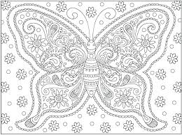 Butterfly Coloring Pages Printable Trend Within For Adults Monarch Free