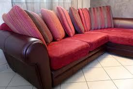 canape cuir et tissu troc echange canapé d angle cuir tissu tousalon sur troc com