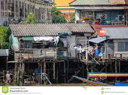 100 Homes In Bangkok On The Chao Phraya River Editorial Image Image Of