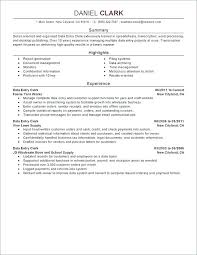 Resume Examples With Summaries Also Summary Templates Good Statements