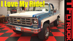 100 Blazer Truck Dude I Love My Ride 1977 Chevy YouTube