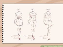 How To Sketch Fashion Designs 5 Steps With Pictures