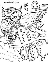 Colorama Coloring Book Owl Off Free Page Swearing Owls Ultra Secret Garden Finished Pdf