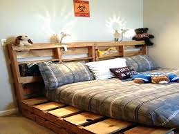 Pallet Bed With Storage King Size Pallet Bed Frame Instructions