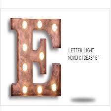 FUMAT Cafe Logo Wall Light Letters E Wall Lamps Metal Letters
