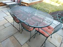 Home Design Oval Wrought Iron Patio Table Oval Wrought Iron