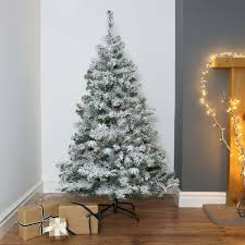 Flocked Artificial Christmas Trees Sale by 5ft Snow Covered Flocked Downswept Artificial Christmas Tree