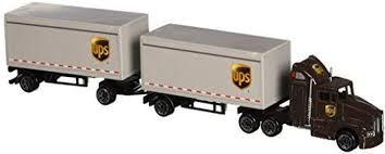 100 Ups Truck Toy Daron UPS Die Cast Tractor With 2 Trailers UPS Die Cast Tractor