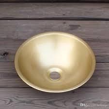 großhandel kleines messing runde waschbecken im badezimmer mini waschbecken kleines haushalt waschbecken porzellan waschbecken kupferprodukt