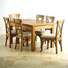 Oak Dining Table And Chairs Room Set Elegant Solid Wood Sets Bedroom