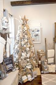 Walmart Flocked Christmas Trees Artificial by How To Decorate Rustic Christmas Tree Lillian Hope Designs