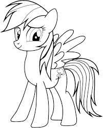 Cute My Little Pony Coloring Pages Rainbow Dash