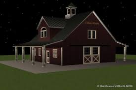 barn plans with living quarters 4 stalls 2 bedrooms design fp