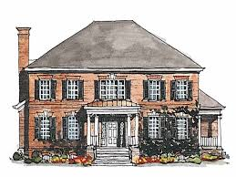 Georgian House Plan with 3380 Square Feet and 4 Bedrooms s from