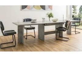 details zu esstisch ancona küchentisch ausziehtisch tisch esszimmer in beton grau 160 310