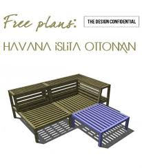 free diy furniture plans to build the havana islita ottoman diy
