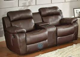 Wall Hugging Reclining Sofa by Living Room Double Recliner Sofa With Console Montgomery