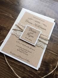 Rustic Wedding Invitation Vintage Lace