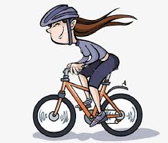 A Girl Riding Bike Clipart Bicycle Flew PNG Image And