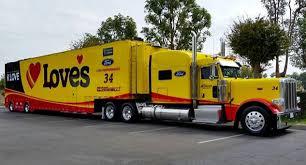 100 Jayski Trucks Peterbilt Loves Hauler Ford NASCAR Transporter Race
