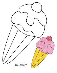 Free Printable Ice Cream Coloring Pages For Kids Page Image
